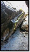 Rock Climbing Photo: Unthinking problem beta. Poor shot, but it's tough...