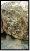 Rock Climbing Photo: Tickle Grips problem beta.