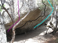 Rock Climbing Photo: DMP wall/Backside of the green wall