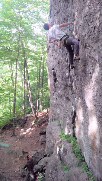 The nice hold after the crux
