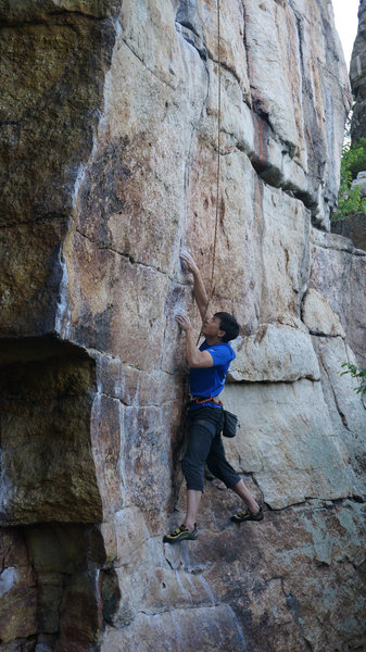 Rock Climbing Photo: Caffeine and Nicotine, 5.12b. This is a TR-only ro...