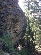 Rock Climbing Photo: Profile view of the route, prior to bolting and cl...