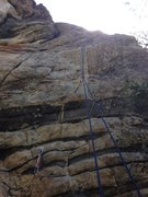 Rock Climbing Photo: Crux and upper half. Bolt 4 was added later.