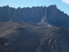 Rock Climbing Photo: Whitney massif, Muir to Whitney taken part way up ...