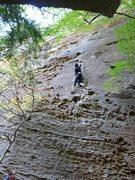Rock Climbing Photo: Steeper than it looks