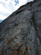 Rock Climbing Photo: Japanese climber in red, YOSAR helicopter in actio...