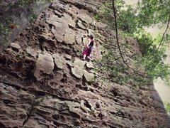 Rock Climbing Photo: Miranda Rayne 5.9
