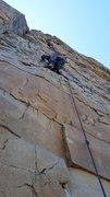 Rock Climbing Photo: Anthony on the FA
