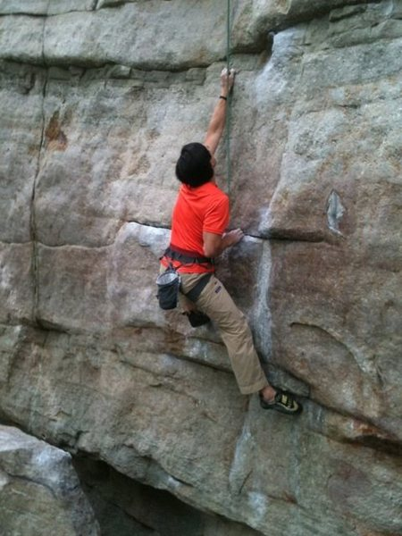 The Sting, 5.11d. Some call this 5.12a and I wouldn&@POUND@39@SEMICOLON@t argue.