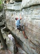 Rock Climbing Photo: The Sting, 5.11d. Some call this 5.12a, and I woul...