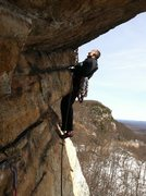 Rock Climbing Photo: Inverted Layback, 5.9 (Mike C. climbing)