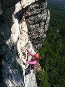Rock Climbing Photo: Millbrook (Gail climbing)