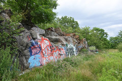 Rock Climbing Photo: Swingle's Quarry - far right of north wall.