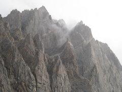 Rock Climbing Photo: Rainy morning