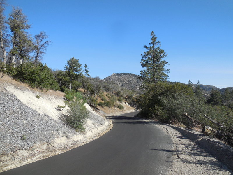 The road to Mt. Pacific starts here with a nice paved section.