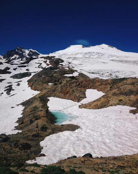 Rock Climbing Photo: Easton Glacier from Sandy Camp