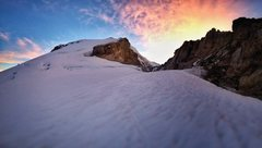 Rock Climbing Photo: Sunrise over Sherman Crater