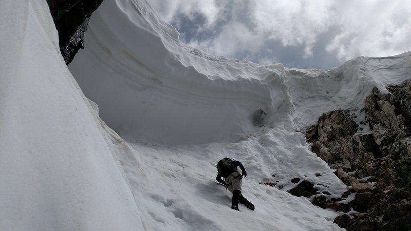 Rock Climbing Photo: Cornice is in.
