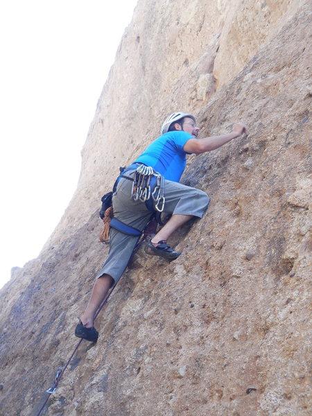 "Rock Climbing Photo: Cruising the lower section of ""Bilbo Surfs Ga..."