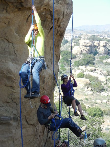 Rock Climbing Photo: Working on self-rescue skills near Beethoven's Wal...