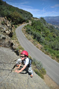 Rock Climbing Photo: Five-year-old Wesley Fienup nears the top of &quot...