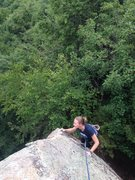 Rock Climbing Photo: Torie headed to the summit