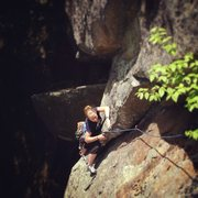 Rock Climbing Photo: Torie on the flake