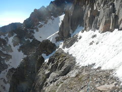 Rock Climbing Photo: Traverse above Alexander's Chimney area on 27 June...