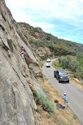 Rock Climbing Photo: Wesley Fienup climbs For a Few Crystals More (5.9)...