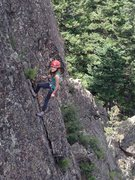 Rock Climbing Photo: Katie K. lowering off the anchors for Undisclosed ...