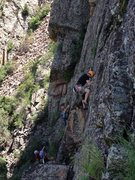 Rock Climbing Photo: Some of the Upper Tier climbs from the west.  The ...