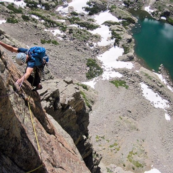 Rock Climbing Photo: Southwest Corner on the Sabre, RMNP.