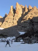 Rock Climbing Photo: Skypond approach to Cathedral Spires.