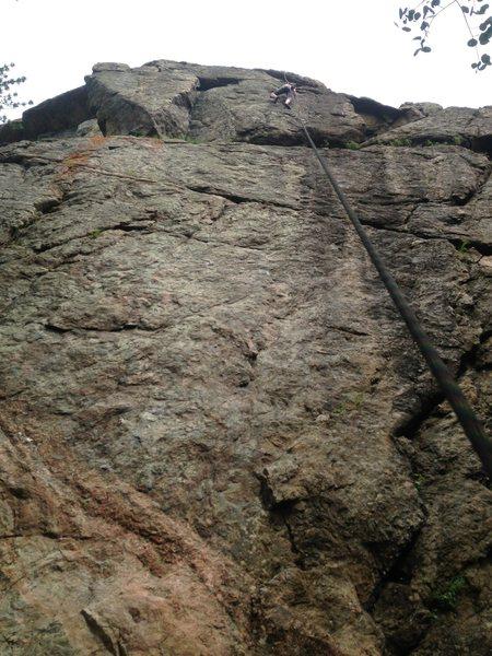 Rock Climbing Photo: Kristine Chalk climbing the final headwall of The ...