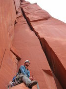 Rock Climbing Photo: Getting psyched for some wild exposure! Pitch 2 fo...