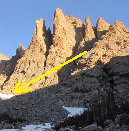 Rock Climbing Photo: Lost axe.