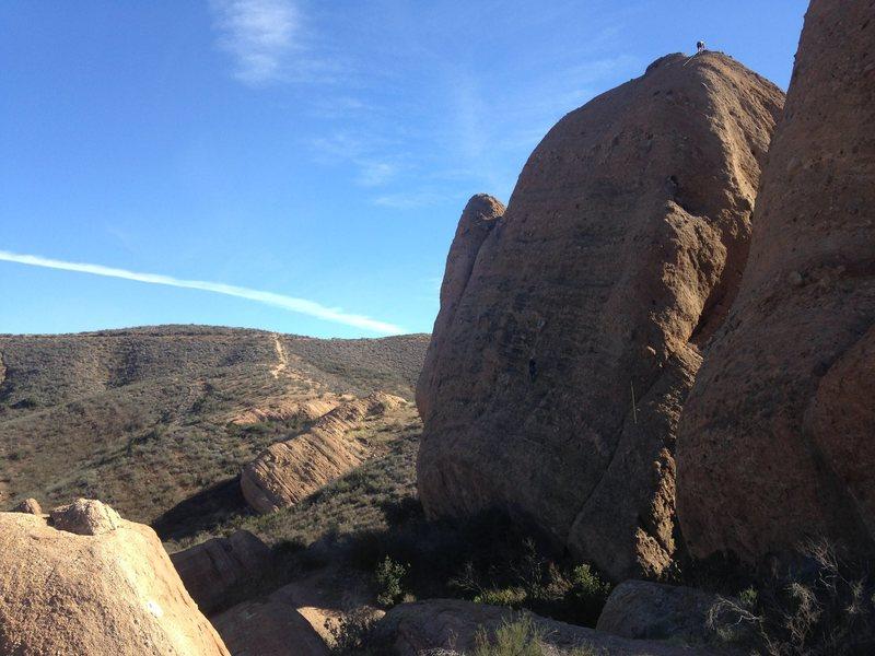 Rock Climbing Photo: Pitch 1 & 2 combined