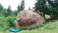 Rock Climbing Photo: One of many Eldorado Canyon Trail boulders.