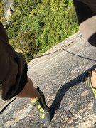 Rock Climbing Photo: Close to the top of the climb.