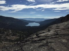Rock Climbing Photo: View of Donner Lake from Snowshed Wall topout