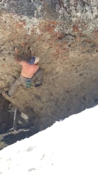 Working the lower section before the crux
