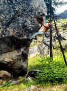 Rock Climbing Photo: awesome climbing on the prow of the bloc!