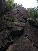 Rock Climbing Photo: Wide but secure climbing
