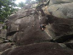 Rock Climbing Photo: Casey leading