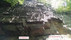 Rock Climbing Photo: The Contortionist is right-most, The Nephalim just...