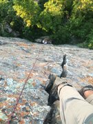 Rock Climbing Photo: Looking down the Volkswagen Crack from near the to...
