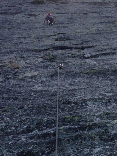 Rock Climbing Photo: Katie leading pitch 4