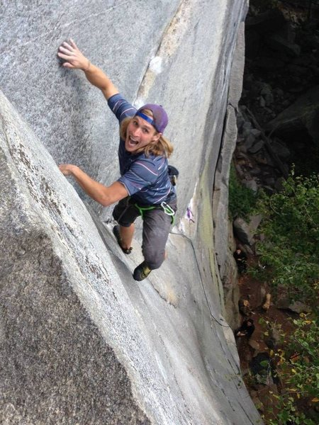 Rock Climbing Photo: Pealing off at the crux