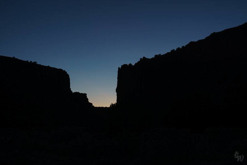 Rock Climbing Photo: Diablo Canyon @ Dusk
