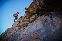 Rock Climbing Photo: Kids getting lowered down Post Moderate after a su...